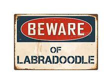 "Beware Of Labradoodle 8"" x 12"" Vintage Aluminum Retro Metal Sign VS245"