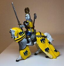 Papo 2004 Knight Yellow & Blue With Horse