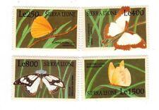 MODERN GEMS - Sierra Leone - Butterflies - Set of 4 - MNH