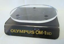 Vintage Olympus OM-1 MD Camera Lucite Acrylic Store Shop Display Stand Pedestal