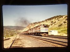 MC19 ORIGINAL TRAIN SLIDE AMTRAK AMT ENGINE 204 GILLULY,UT