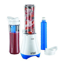 Russell Hobbs 21351 Mix and Go Cool Personal Blender 600ml 300W - White & Blue