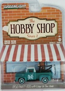 1:64 GreenLight 1956 Ford F-100 With tow Hook Hobby Shop Series 2