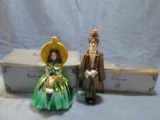 """Kurt S. Adler Polonaise """"Scarlett O'Hara & Rhett Butler"""" Lot 2 Ornaments-Boxes"""