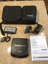 Vintage Sony Discman D-133 Walkman with Case Logic Storage Case