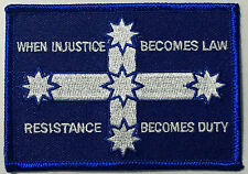 When injustice becomes law resistance becomes duty - cloth patch.     D040803