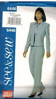 6446 Vintage Butterick Sewing Pattern Misses Jacket Pants See & Sew 18 - 22 OOP