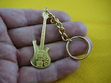 (M-311-C) RICKENBACKER Guitar gold CHARM Jewelry keychain key I love guitars