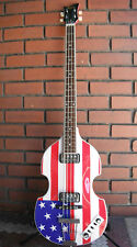 NEW HOFNER CT CONTEMPORARY BEATLE BASS GUITAR FLAG FINISH HCT-500/1-USA LIMITED