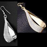 Damen Glitzer Ohrringe Silber/Gold Ohrhänger Tropfen Durchzieher Stecker Creolen