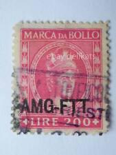 VECCHIA MARCA DA BOLLO AMG FTT lire 200 Trieste
