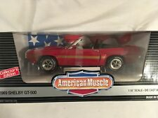 Ertl  American Muscle  1969 SHELBY GT-500  Candyapple Red     1/18