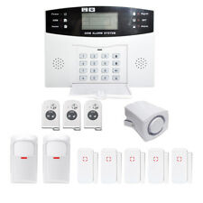 GSM SMS Wireless Home Fireproof Burglar Alarm Smart Home Security System US Plug