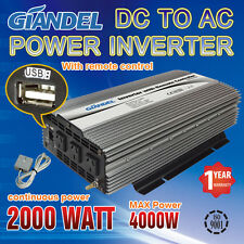 Large Shell Power Inverter2000W/4000W Max12V-240V+Remote Control Of 4.5M Cable