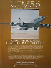 10/1982 PUB CFM SNECMA GENERAL ELECTRIC CFM56 ENGINE KC-135R USAF TANKER AD