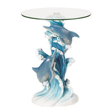 Koehler Home Decor Gift Hallway Entry Side End Dolphins Accent Table