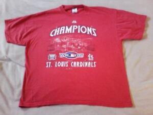 St. Louis Cardinals World Series Champions Red Shirt Men's Size XL, MLB