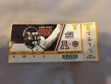 2011 Football Ticket Stub Arizona vs Louisiana-Lafayette Ragin Cajuns