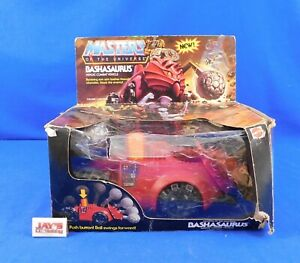 Vtg 1984 Bashasaurus Vehicle He-Man Masters of the Universe MOTU Complete w/Box