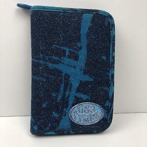 Vtg Lisa Frank 6 Ring Mini Binder Planner Never Used W/ Stickers Blue