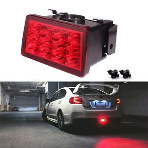 For Subaru WRX STi XV Brilliant Red LED F1 Style Rear Fog Lamp/Brake Tail Lights