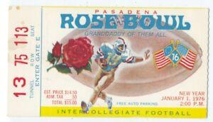 1976 ROSE BOWL TICKET STUB Ohio State Buckeyes vs UCLA Bruins