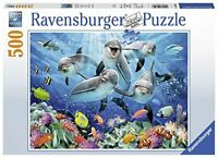 Ravensburger Jigsaw Puzzle DOLPHINS Sea Life Fish- 500 Piece