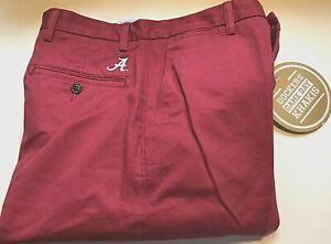 Alabama Crimson Tide NCAA SEC Men Dockers Game Day Red Chino Pants W33 L30 New
