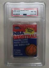 1986 Fleer NBA Basketball unopened Wax Pack PSA graded NM-MT 8! Possible Jordan?