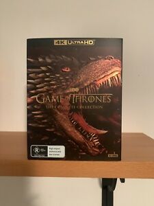 GAME OF THRONES COMPLETE SERIES 1-8 BOX SET 33 DISC 4K UHD (NEW BUT NOT SEALED)