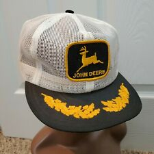 Vintage John Deere Snapback Trucker Hat Full Mesh Patch Cap Louisville USA