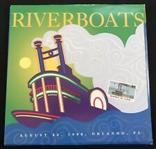 US 1996 Riverboat First Day Issue w/ Cancel in Folder
