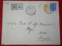 Finland Nykarleby 1895 Registered Uprated Stationery Cover