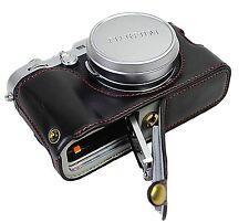 PU Leather Half Camera Case Bag Cover for Fuji Fujifilm x100f  X100 F Black