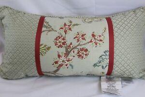 Croscill Home Riviera OR Retreat Aqua Floral 11 x 22in Fashion Decorative Pillow