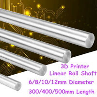300-500mm 6-12mm CNC 3D Printer Axis Chromed Smooth Rod Steel Linear Rail K