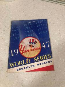 1947 world series program Yankees Brooklyn Dodgers