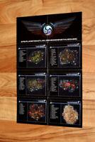 Tabula Rasa Video Game Rare small German Map / Poster 43x28cm
