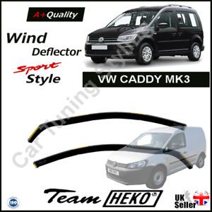VW CADDY MK3 or MK4 2004-onwards 2-pc Wind Deflectors HEKO Tinted