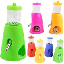 2 in 1 Small Animal Hamster Dispenser With Base Nest Water Bottle Holder Hut Pet