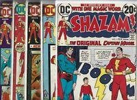 Shazam! #1, #13, #14, #15 & #17    Lot of 5 (1973/1975, DC Comics)