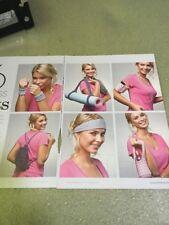 6 Keep Fit Knitting Pattern - Wristband, Yoga Mat Strap, iPod Case, Rucksack