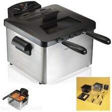 Personal Home Small Electric Deep Fryer Double Baskets Cook 2 Foods At Once