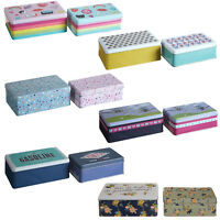 Set Of 2 Storage Tins Rectangular Kitchen Cake Sweets Biscuit Tubs Containers