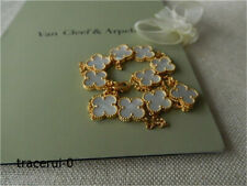 Van Cleef & Arpels VCA Alhambra Mother of Pearl & 18K Yellow Gold Necklace