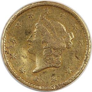 1851 United States Gold Liberty Head Dollar - Damaged Condition / .0481 AGW