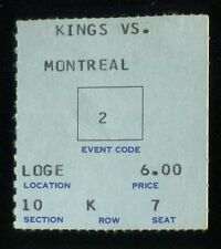 Hockey Ticket Los Angeles Kings  1968 Montreal Canadiens 10/23 Tony Esposito RC
