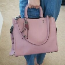 "Authentic Coach 1941 Rogue Leather Satchel Crossbody Bag ""Dusty Rose"""