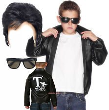 Boys Kids Child T-Bird Thunder Bird Grease Jacket 50s 60s Fancy Dress Costume
