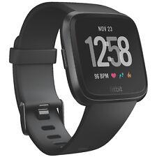 FITBIT Versa, Smartwatch, S-L, Schwarz/Schwarz